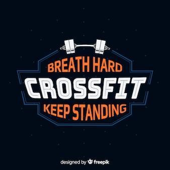 Emblema con frase motivadora de crossfit