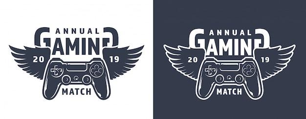Emblema de gamepad alado