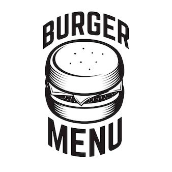 Emblema de hamburguesa elemento para logotipo, etiqueta, emblema, signo.