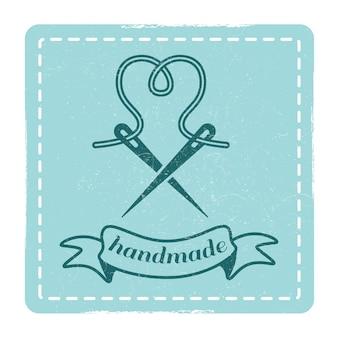 Emblema hecho a mano de hipster vintage