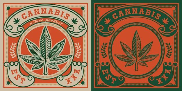 Emblema de la hoja de cannabis.