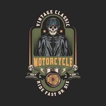 Emblema de insignia vintage de motocicleta personalizada