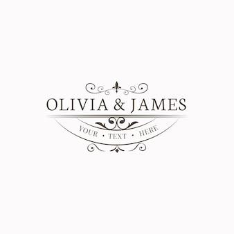 Emblema de invitación de boda