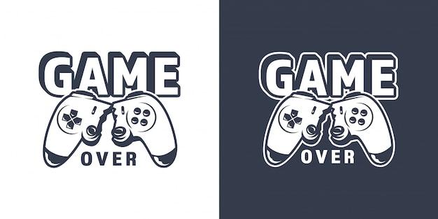 Emblema de joystick de videojuego roto