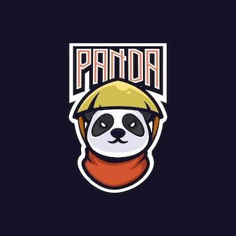 Emblema del logo del juego panda e-sport team