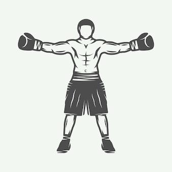 Emblema del logotipo del boxeador