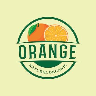 Emblema del logotipo de la granja naranja
