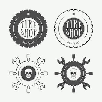 Emblema mecánico y logo