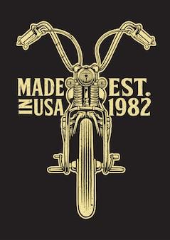 Emblema de moto chopper