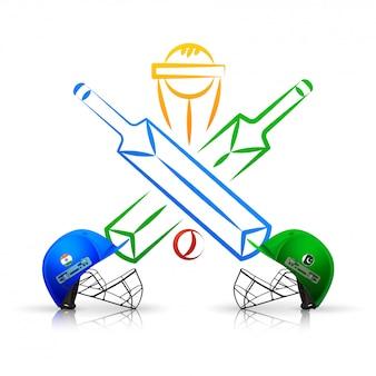 Emblema del partido de cricket