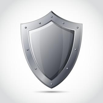Emblema de protección comercial en blanco escudo