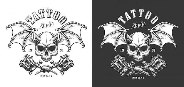 Emblema de salón de tatuaje