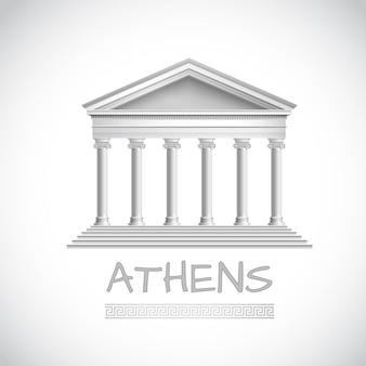 Emblema del templo de atenas