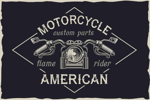 Emblema de vector de reparación personalizada de motocicleta