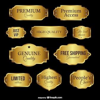 Emblemas de calidad premium