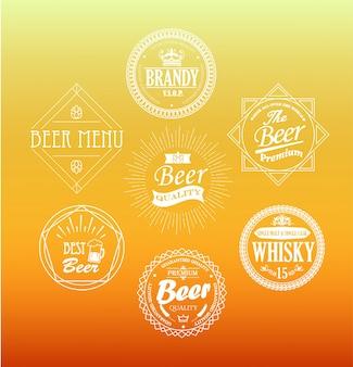 Emblemas de la cerveza, vector.