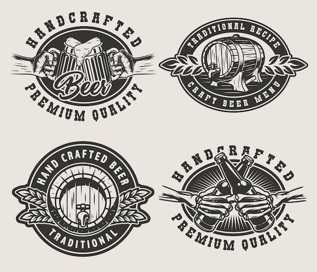 Emblemas de cerveza vintage