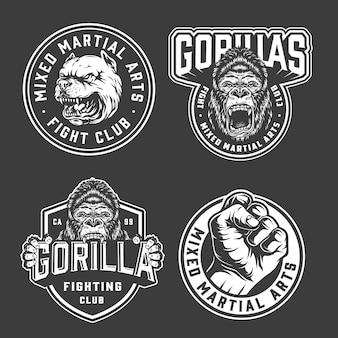 Emblemas de club de lucha vintage