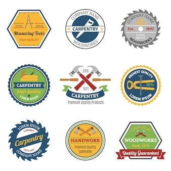Emblemas de color de carpintería