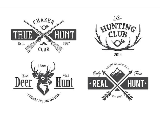 Emblemas de caza vintage