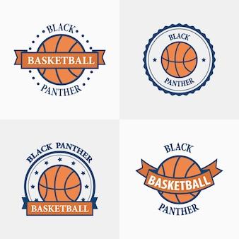 Emblemas del equipo deportivo de baloncesto
