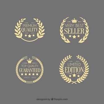 Emblemas guirnalda del laurel de calidad premium