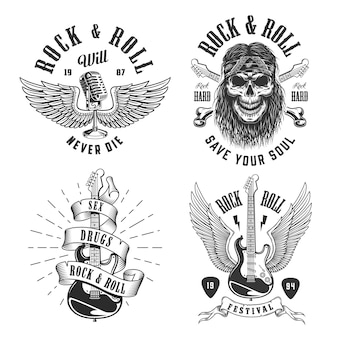 Emblemas de rock and roll