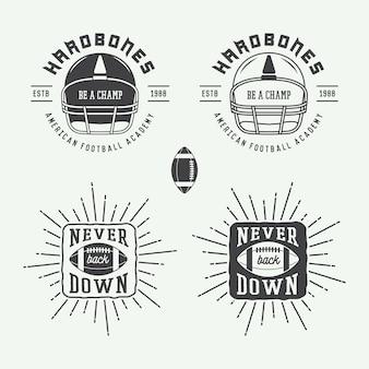 Emblemas de rugby y fútbol americano