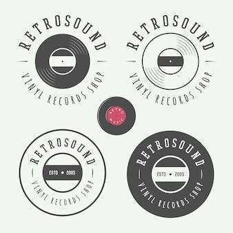 Emblemas de la tienda de música.