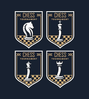 Emblemas del torneo de ajedrez