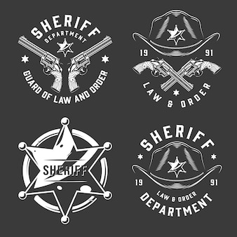 Emblemas vintage monocromos