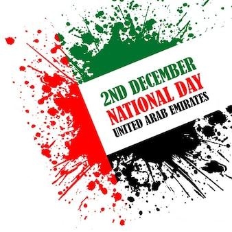 Emiratos árabes unidos, fondo día de la independencia con pintura