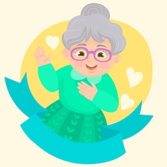 Emoción de anciana