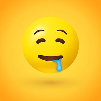 Emoji de cara babeante