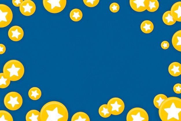Emoji estrella de fondo enmarcado