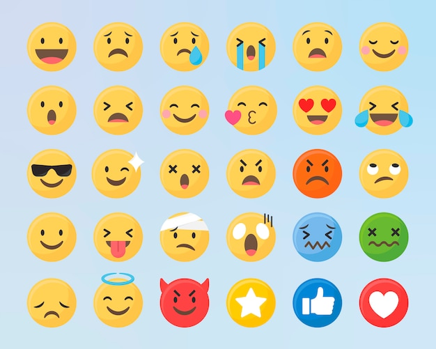 Emoji mixto conjunto