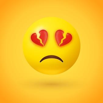 Emoji de ojos con el corazón roto