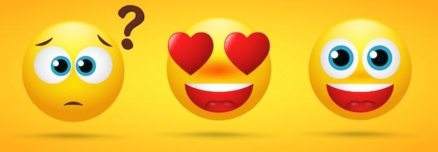 Emoji que muestra emociones maravillosas.
