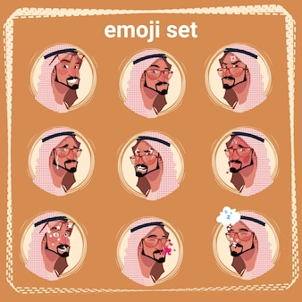 Emoji set arab man
