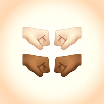 Emojis frente al puño