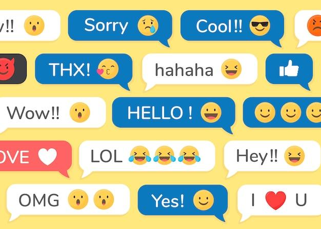 Emojis en mensajes