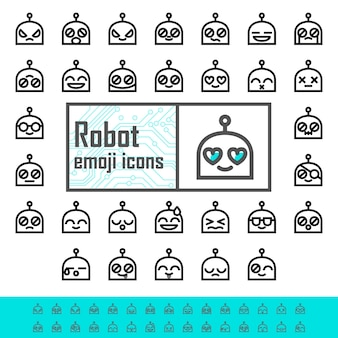 Emojis de robot de línea