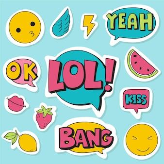 Emojis y stickers de redes sociales
