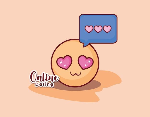 Emoticon cara amor romance mensaje citas en línea