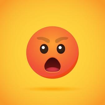 Emoticon de dibujos animados emojis sonríen para las redes sociales en naranja. ilustración