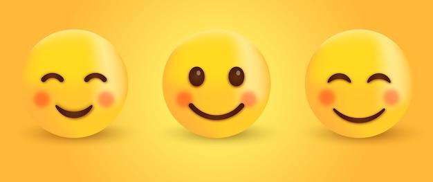Emoticon sonriente con ojos sonrientes feliz emoji lindo de la cara sonriente