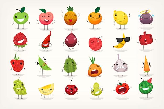 Emoticonos de frutas