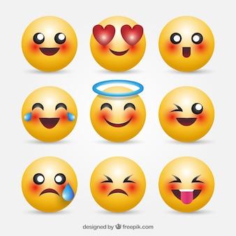 Emoticonos impresionantes en 3d
