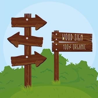 Emparejar señales de madera