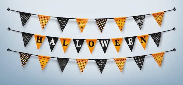 Empavesados de halloween para happy halloween
